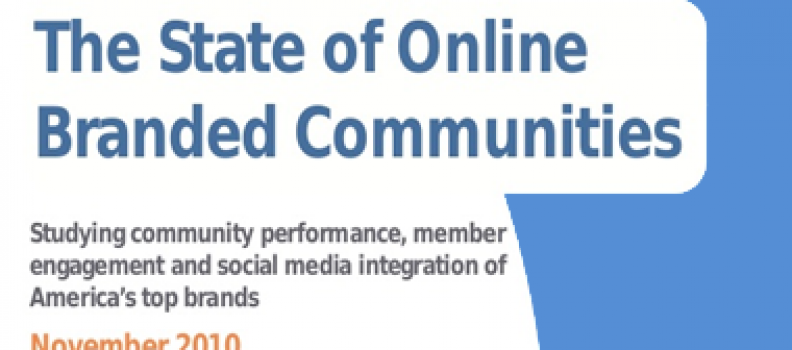 The State of Online Branded Communities 2010
